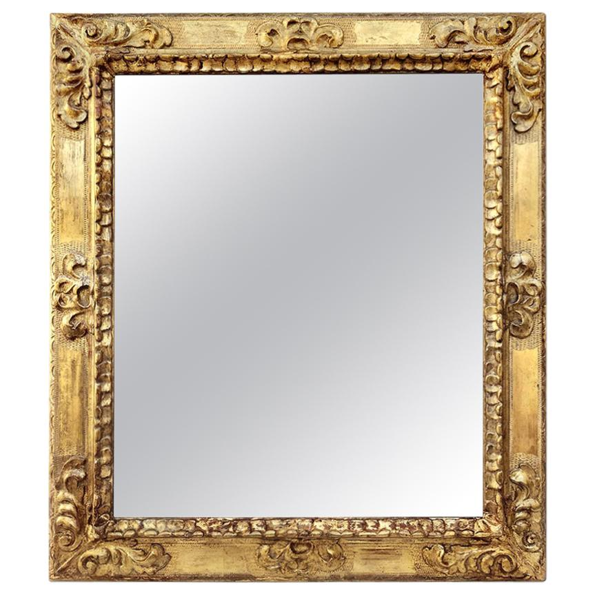 Antique Spanish Style Giltwood Mirror, circa 1930