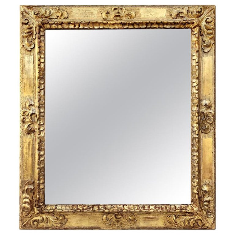 Antique Spanish Style Giltwood Mirror, circa 1930 For Sale