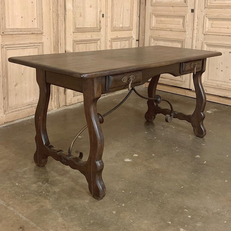 Hand-Crafted Antique Spanish Writing Desk For Sale