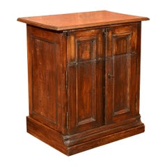 Antique Specimen Cabinet, French Oak Cupboard, Secretaire, Desk, circa 1850