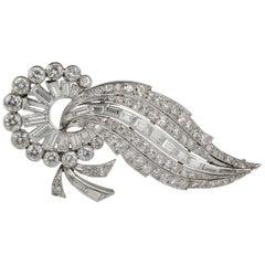 Antique Spectacular 6.15 Carat Diamond Platinum Comet Brooch