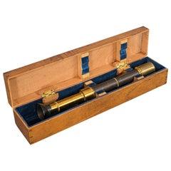 Antique Spectrometer, French, Brass, Scientific Instrument, J G Hofmann, 1860