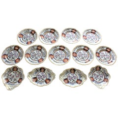 Antique Spode 'Imperial' Chinoiserie Styled 13 Piece Luncheon Set, Circa 1823