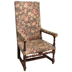 Antique Spool Armchair in Walnut, 19th Century