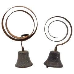 Antique Spring Door Servants Bell, 20th Century