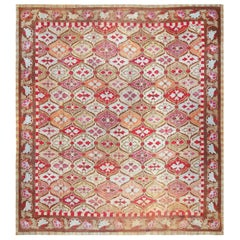Antique Square French Aubusson Rug