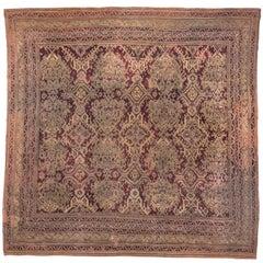 Antique Turkish Oushak Carpet, circa 1900s