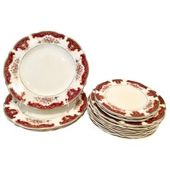 Antique Staffordshire Dinnerware S/18 Pieces by Thomas Hughes & Son