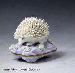 Antique Staffordshire figure of a hedgehog early 19th century England