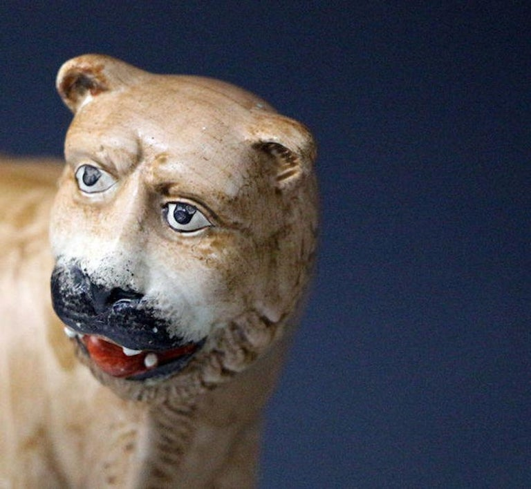 English Antique Staffordshire Figure of a Standing Lioness by Dale & Co For Sale