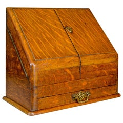 Antique Stationery Cabinet, English, Victorian, Oak, Correspondence Chest