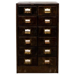 Antique Steel File Cabinet