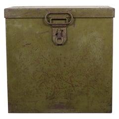 Antique Steel Movie Reel Transport Box, c.1920