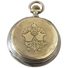 Antique Stem-Wind Silver Pocket Watch