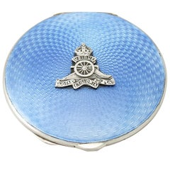 Antique Sterling Silver and Enamel Compact