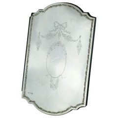 Antique Sterling Silver and Leather Menu Holder, London, 1905