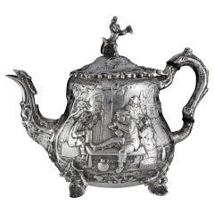 Antique Sterling Silver Bachelor Tea Pot by John Septimus Beresford, 1881