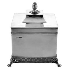 Antique Sterling Silver Biscuit Box, 1912