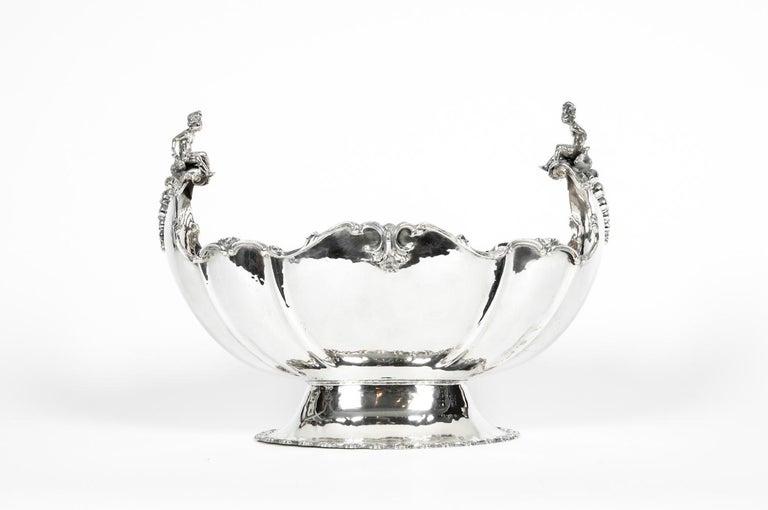 Antique Sterling Silver Boat Shape Centrepiece For Sale 1