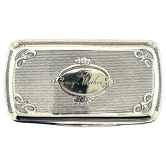 Antique Sterling Silver Box to My Mother