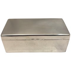 Antique Sterling Silver Box with Solid Lid
