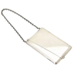 Antique Sterling Silver Calling Card Case Purse