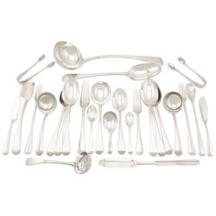Antique Sterling Silver Canteen of Cutlery, 1930