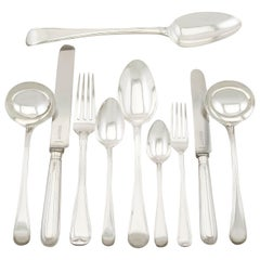 Antique Sterling Silver Canteen of Cutlery for Ten Persons