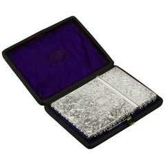 Antique Sterling Silver Card Case, 1835