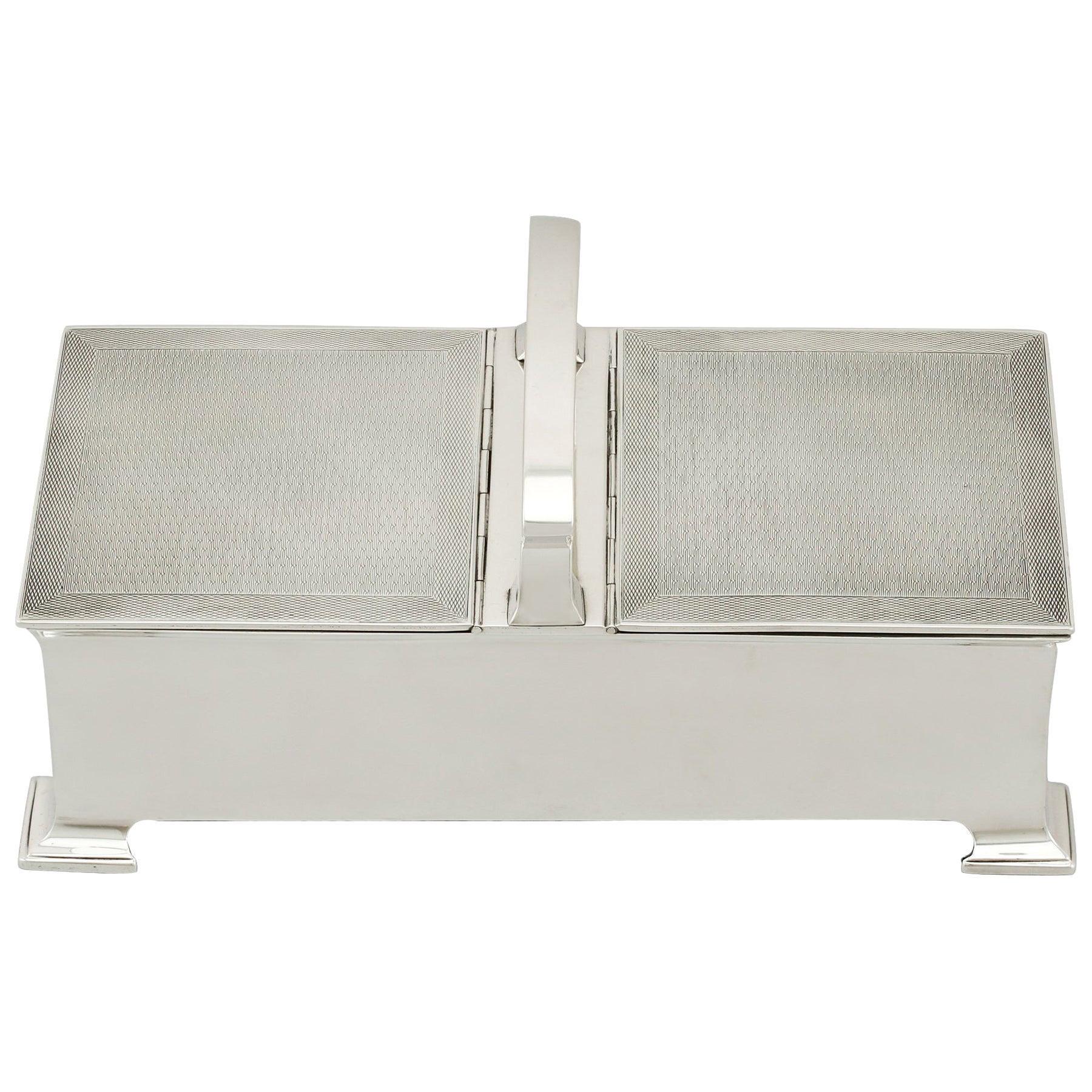 Antique Sterling Silver Cigarette Box by Horton & Allday