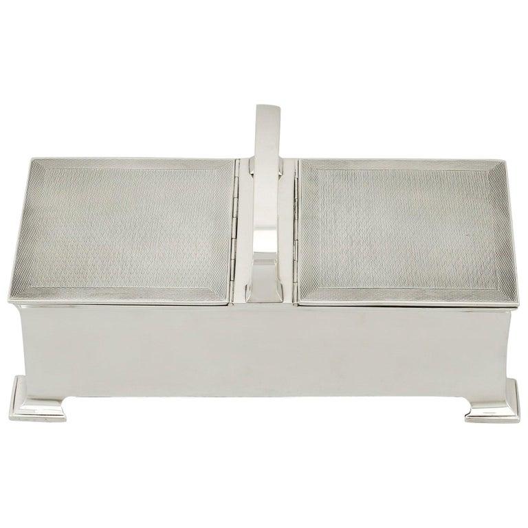 Antique Sterling Silver Cigarette Box by Horton & Allday For Sale