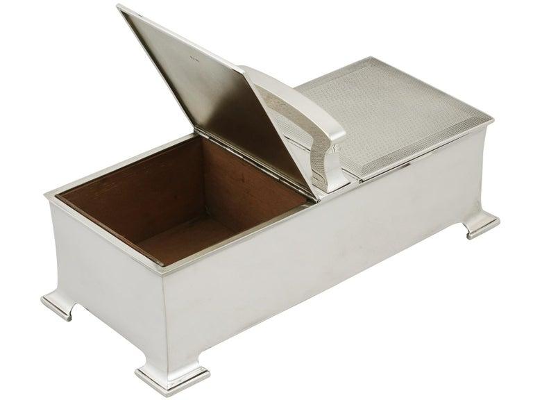 English Antique Sterling Silver Cigarette Box by Horton & Allday For Sale