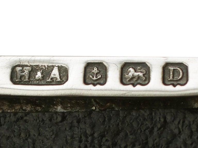 Antique Sterling Silver Cigarette Box by Horton & Allday For Sale 2