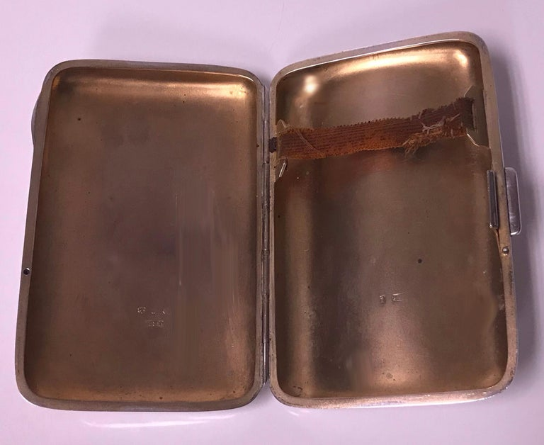 Antique Sterling Silver Cigarette Case, Birmingham 1898 JR For Sale 3