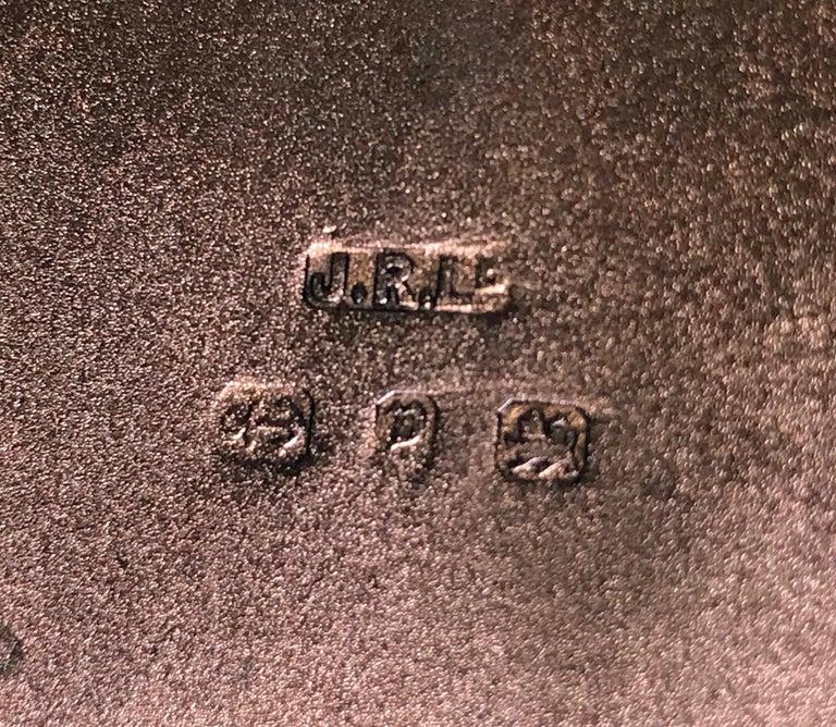 Antique Sterling Silver Cigarette Case, Birmingham 1898 JR For Sale 4