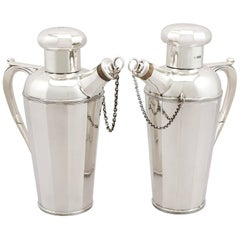 Antique Sterling Silver Cocktail Shakers