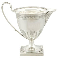 Antique Sterling Silver Cream Jug by Henry Chawner