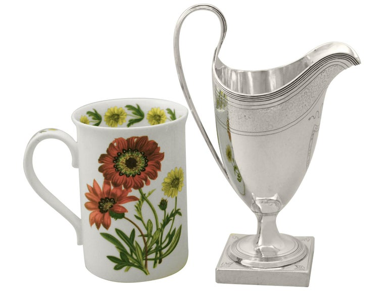Early 18th Century Antique Sterling Silver Cream Jug or Creamer, George III, 1796 For Sale