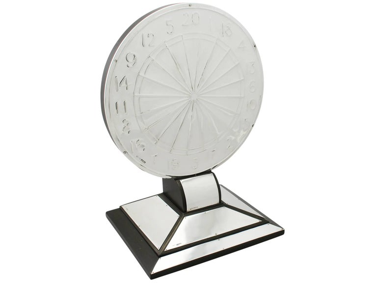 An exceptional, fine and impressive, unusual antique George V English sterling silver presentation trophy in the form of dartboard; part of our silverware collection  This exceptional and unusual antique sterling silver trophy has been crafted in