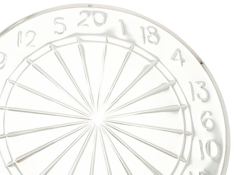 Mid-20th Century Antique Sterling Silver Dartboard Presentation Trophy For Sale