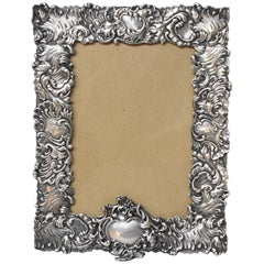 Antique Sterling Silver Easel Picture Frame by George W. Shiebler & Company
