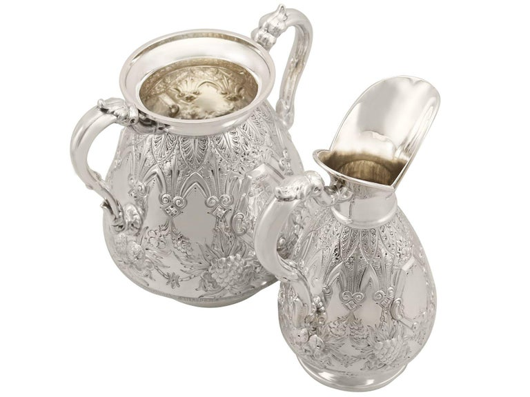 Early 20th Century Antique Sterling Silver Four-Piece Tea and Coffee Service For Sale