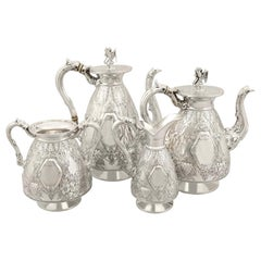 Antique Sterling Silver Four-Piece Tea and Coffee Service
