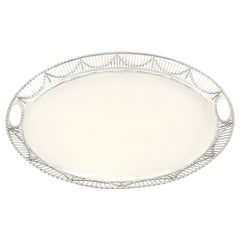 Antique Sterling Silver Galleried Tray
