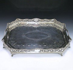 Antique Sterling Silver Gallery Tray