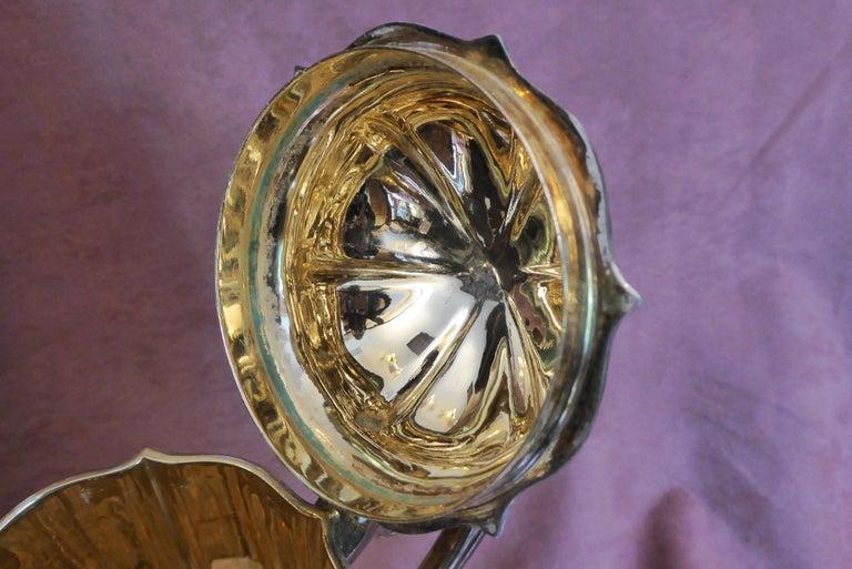 British Antique Sterling Silver Gilt Wine Flagon, 1880 For Sale