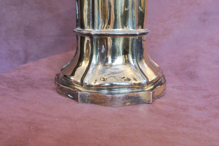 Antique Sterling Silver Gilt Wine Flagon, 1880 For Sale 1