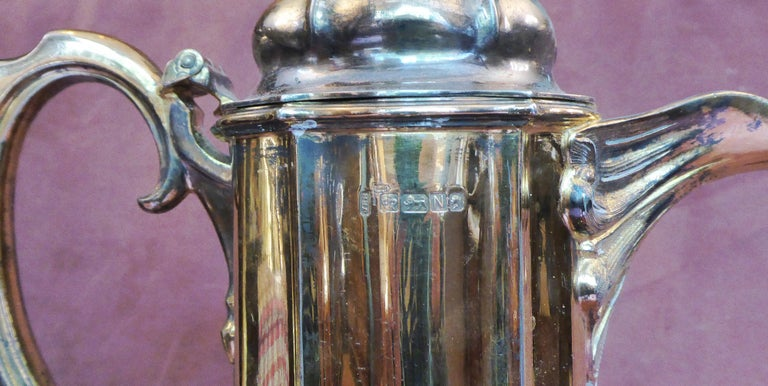 Antique Sterling Silver Gilt Wine Flagon, 1880 For Sale 2