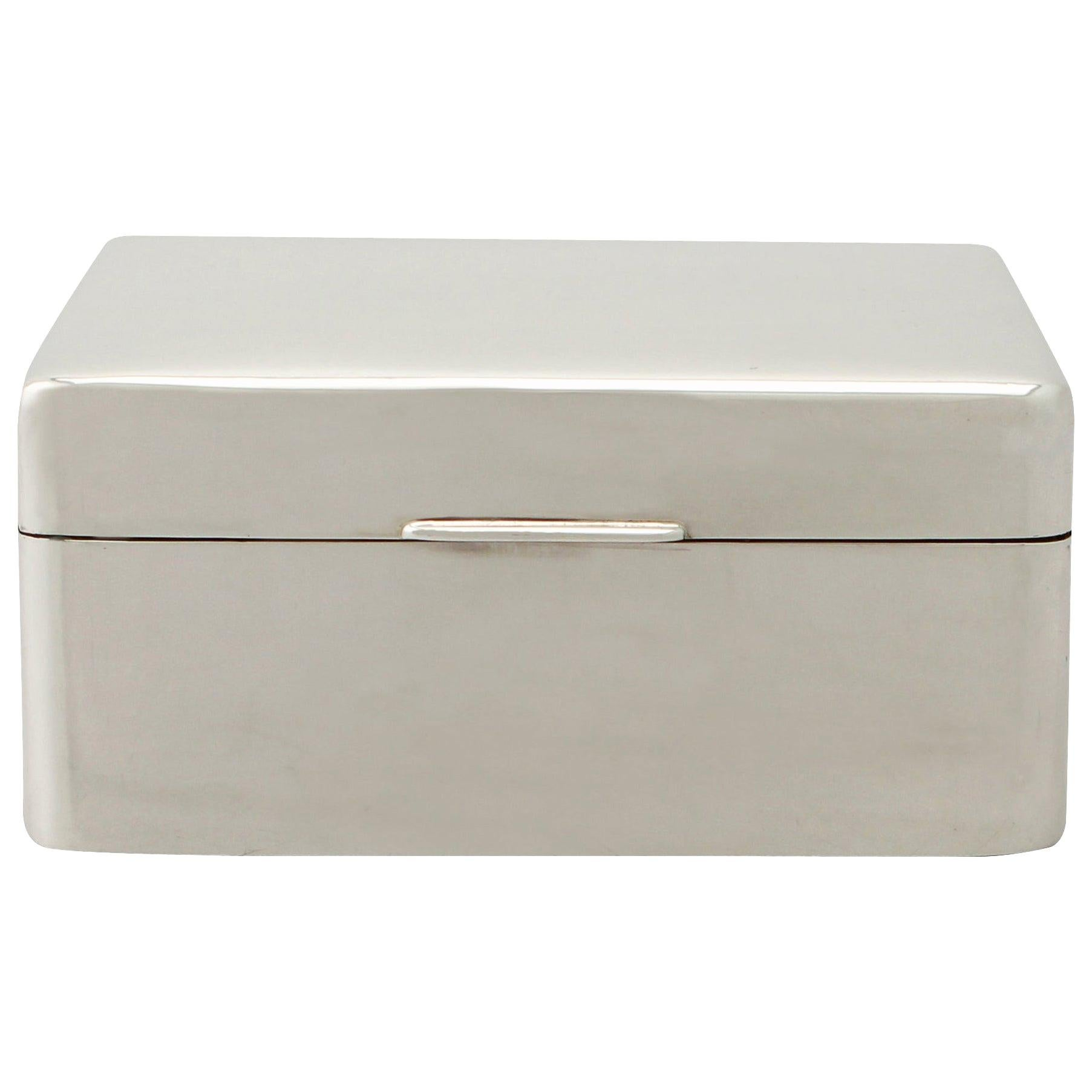 20th Century Antique Sterling Silver Jewelry Box 1930