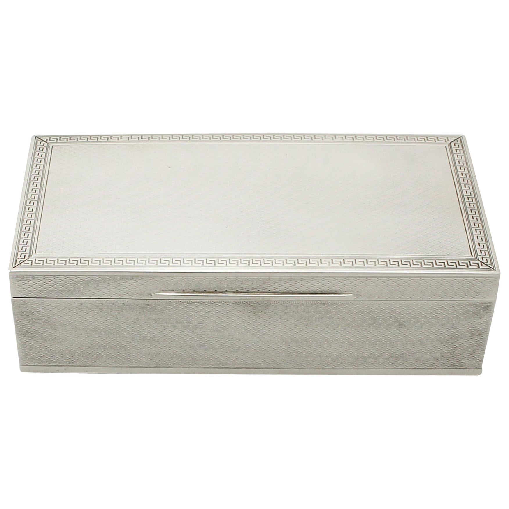 20th Century Antique Sterling Silver Jewelry Box 1928